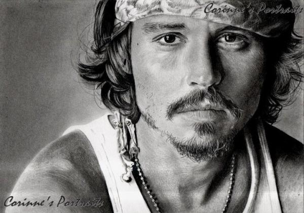 Johnny Depp by Sadness
